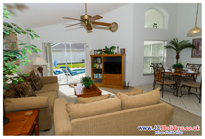 JCHolidays Orlando Pool Villa Great Room