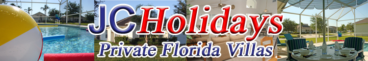 JCHolidays Private Florida Holiday Rental Pool Villa near Orlando